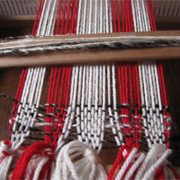 Weaving of a scarf
